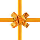 золотой лук и ленты — Стоковое фото