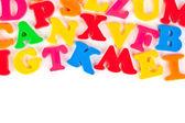 çok renkli oyuncak harfler — Stok fotoğraf