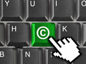 Computer keyboard with Copyright symbol — Stock Photo