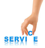 Hand and word Service — Stock Photo