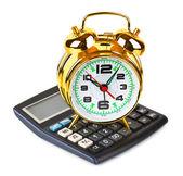 Kalkulačka a hodiny — Stock fotografie