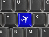 Computer keyboard with Plane key — Stock Photo