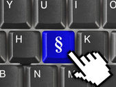 Computer keyboard with paragraph key — Stock Photo