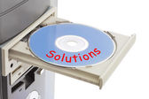 Computer and disk Solutions — Stock Photo