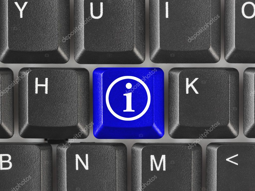 Computer keyboard with information key - internet background — Stock Photo #4276773
