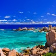 Panorama of tropical beach at Seychelles — Stock Photo #4280528