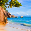 Tropical beach Source D'Argent at Seychelles — Stock Photo #4282806