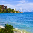 Tropical beach Source D'Argent at Seychelles — Stock Photo #4282823