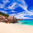 Tropical beach at Seychelles — Stock Photo #4284490