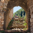 Ruins of old town in Mystras, Greece - Stock Photo