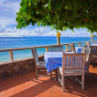 Cafe on tropical beach — Stock Photo