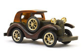 Wooden toy retro car — Stock Photo