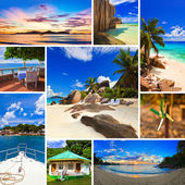Collage of summer beach images — Stock Photo