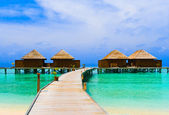 Water bungalows — Stock Photo