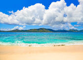 Tropical beach at Seychelles — Stock Photo