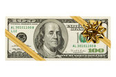 Money and bow — Stock Photo