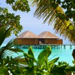 Water bungalows on a tropical island — Stock Photo #4305478