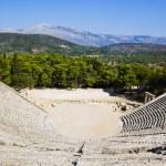 Ruins of Epidaurus amphitheater — Stock Photo