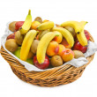 Basket with fruits — Stockfoto