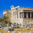 Erechtheum temple in Acropolis at Athens, Greece — Stock Photo