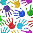 Stock Photo: Seamless hands background
