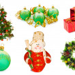 Stock Photo: Christmas set