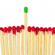 Matches - leadership concept — Stock Photo
