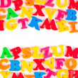 Multicolored toy letters — Stock Photo