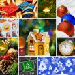 Collage of christmas images — Stock Photo