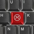 Computer keyboard with smile key — Stock Photo #4307904