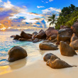 Tropical beach at sunset — Stock Photo #4308054