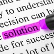 Highlighter and word solution — Stock Photo #4308055