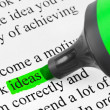 Stock Photo: Highlighter and word Ideas