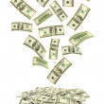 Box and falling money — Stock Photo #4308347