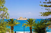Bourtzi castle island in Nafplion, Greece — Stock Photo