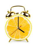 Uhr von früchten hergestellt — Stockfoto