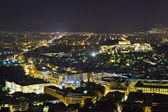 Acropolis and Athens in Greece at night — Stock Photo