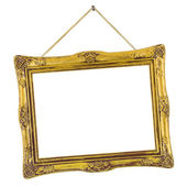 Retro frame at string — Stock Photo