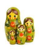 Russian retro toy matrioska — Stock Photo