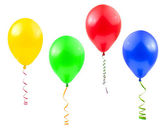 Balloons and streamer — Stock Photo