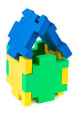 Hus gjort av pussel — Stockfoto