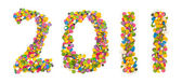 2011 made of confetti — Stock Photo
