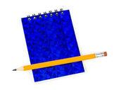 铅笔和注垫 — 图库照片