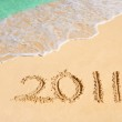 Numbers 2011 on beach — Stock Photo #4343707