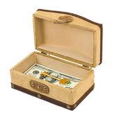 钱和密钥框中 — 图库照片