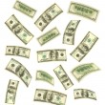 Falling money — Stock Photo #4430568