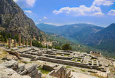 Ruins of Apollo temple in Delphi, Greece — Stock Photo