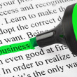 Highlighter and word business - Stock Photo
