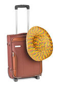 Travel case and hat — Stock Photo