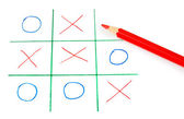 Noughts and crosses spiel — Stockfoto